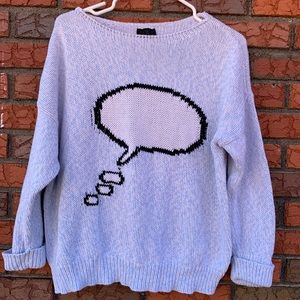 TopShop Thought Bubble Sweater